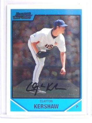 2007 Bowman Chrome Draft Future's Game Clayton Kershaw Rookie #BDPP77 *70846
