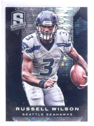 SOLD 530 2013 Panini Spectra Black Atomic Prizm Russell Wilson #D 1/1 *56401