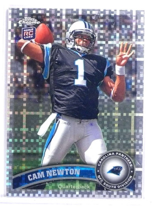2011 Topps Chrome Xfractor Cam Newton Rookie Rc 1 70832