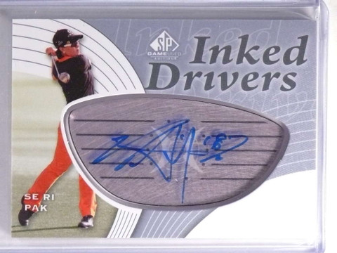 SOLD 17891 2012 SP Game Used Golf Inked Drivers Se Ri Pak Autograph auto #IDSP *70574
