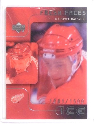 SOLD 17942 2001-02 Upper Deck Ice Pavel Datsyuk Rookie #D1381/1500 #53 *70869