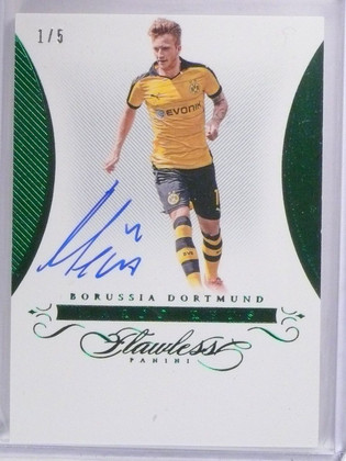 SOLD 534 2016 Panini Flawless Emerald Marco Reus autograph auto #d1/5 #FS-MR *56349