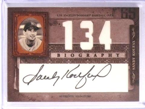 2005 Donruss Playoff Biography Wins Sandy Koufax autograph auto  *70960