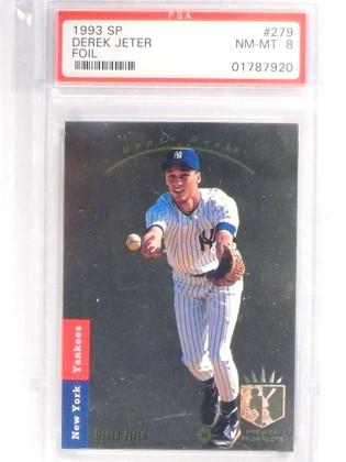 SOLD 18015 1993 Sp Foil Derek Jeter rc rookie #279 PSA 8 NM-MT Yankees *70933
