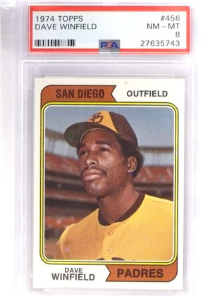 SOLD 18017 1974 Topps Dave  Winfield rc rookie #456 Psa 8 NM-MT *70947