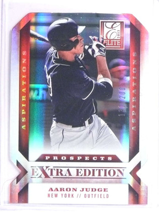 SOLD 18023 2013 Elite Extra Edition Aspirations Aaron Judge rc rookie #D131/200 #122 *71127