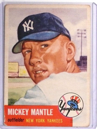 1953 Topps Mickey Mantle #82 Good NO Major Creases! *70964