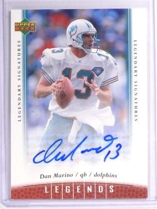 2006 Upper Deck Legends Dan Marino autograph auto #4 Shortprint sp! *70959