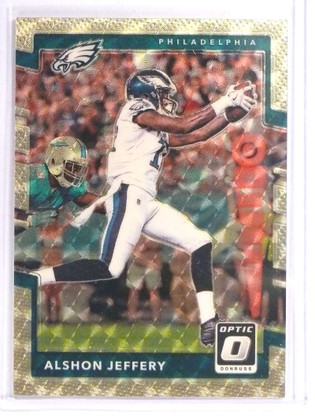 SOLD 18120 2017 Donruss Optic Gold Vinyl Superfractor Alshon Jeffery #D 1/1 *70979
