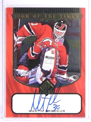 1998-99 Sp Authentic Sign Of The Times Martin Brodeur autograph auto #MB *70991