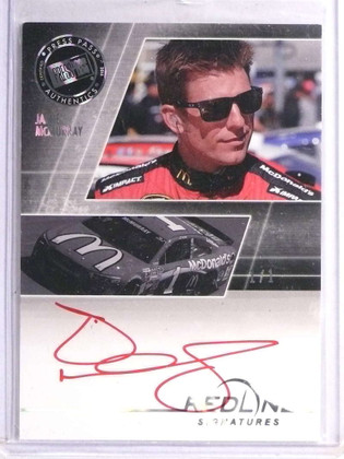 2014 Press Pass Redline Signatures Jamie Mcmurray autograph auto #D 1/1 *71012
