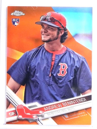 2017 Topps Chrome Orange Refractor Andrew Benintendi Rookie #D01/25 #100 *71324