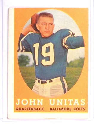 1958 Topps Johnny Unitas #22 VG Miscut *71140