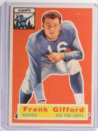 SOLD 18461 1956 Topps Frank Gifford #53 EX *71155