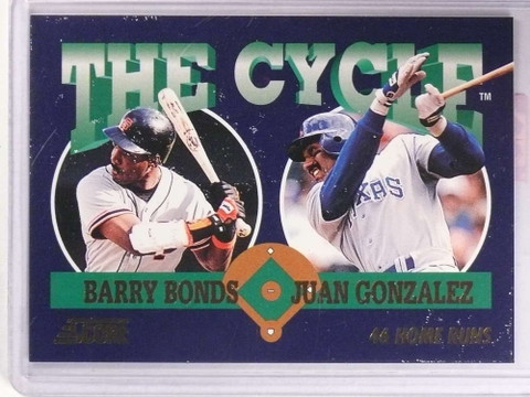 1993 Score The Cycle Juan Gonzalez Barry Bonds Tc16 71812
