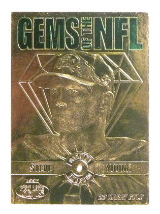 1997 Pro Line Gems of the NFL EMerald Steve Young #G13 *71563