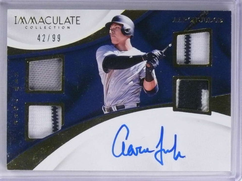 SOLD 19148 2017 Immaculate Aaron Judge quad jersey patch autograph auto rc #D42/99 *71898