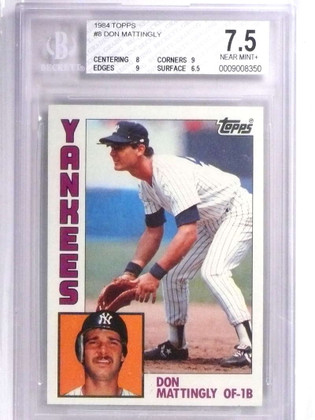 SOLD 19219 1984 Topps Don Mattingly rc rookie #8 BGS 7.5 Yankees *71884