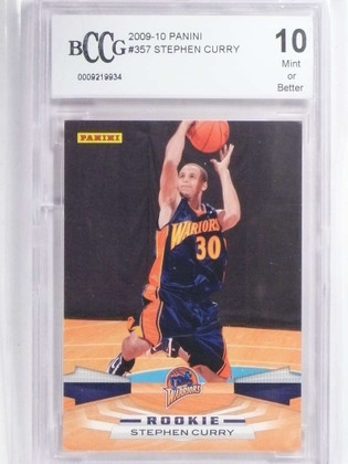 SOLD 19235 2009-10 Panini Stephen Curry rc rookie #357 BCCG 10 *71875