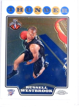 2008-09 Topps Chrome Russell Westbrook rc rookie #184 *71929