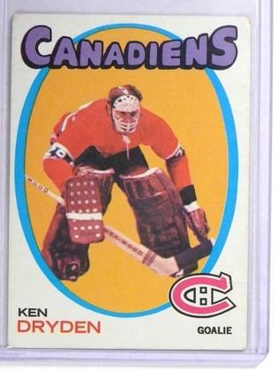 SOLD 19312 1971-72 Topps Ken Dryden rc rookie #45 VG *71998