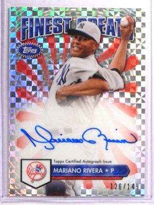 2014 Topps Finest Greats Xfractor Mariano Rivera autograph auto #D126/149  *72205