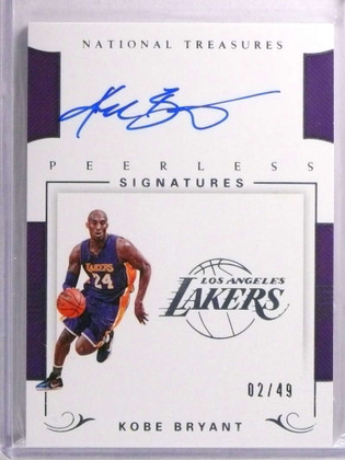 SOLD 19565 2017-18 National Treasures Peerless Kobe Bryant autograph auto #D02/49 *72216