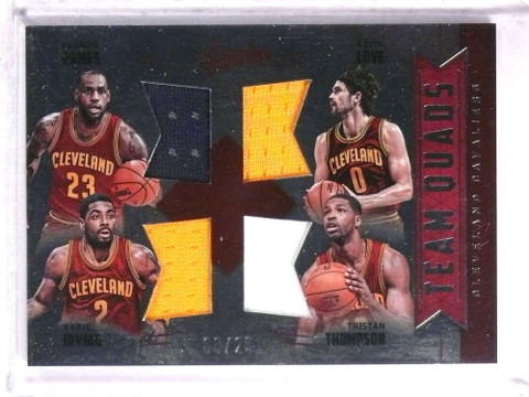 SOLD 19598 2016-17 Absolute Team Quads Cavs Lebron James Irving Love jersey #D06/25 *72282