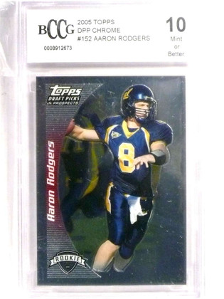 SOLD 19639 2005 Topps Draft DPP Chrome Aaron Rodgers rc rookie #152 BCCG 10  *72195