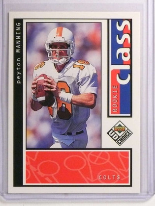 1998 Upper Deck UD Choice Peyton Manning rc rookie #193 *72334