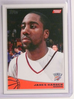 SOLD 19840 2009-10 Topps James Harden rc rookie #319  *72604