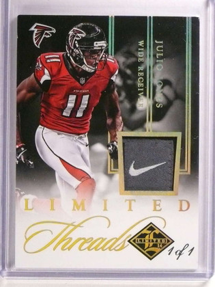 2014 Panini Limited Threads Julio Jones NFL Tag Patch #D 1/1 #TH-JJ *72472
