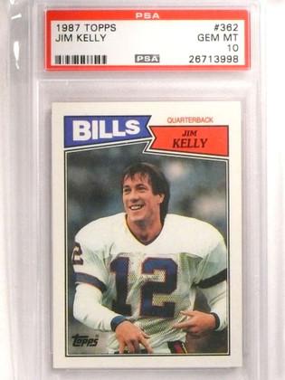SOLD 19911 1987 Topps Jim Kelly rc rookie #362 PSA 10 GEM MINT Bills HOF *72447
