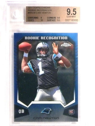 DELETE 19918 2011 Topps Chrome Rookie Recognition Cam Newton rc #RRCM BGS 9.5 *72465