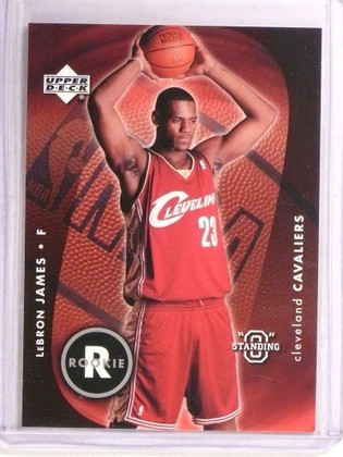 "2003-04 Upper Deck Standing ""O"" Lebron James rc rookie #85 *72783"