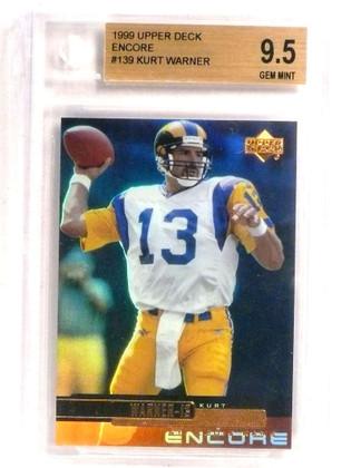 1999 Upper Deck Encore Kurt Warner rc rookie #139 BGS 9.5 GEM MINT Tough! *72735