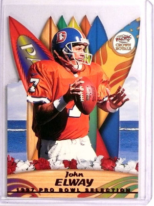 SOLD 20281 1997 Pacific Crown Royale Pro Bowl Selection Diecuts John Elway #5 *72939