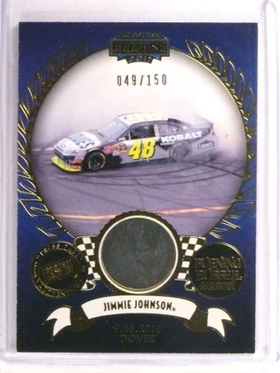 2011 Press Pass Eclipse Burning Rubber Jimmie Johnson tire #D49/150 *72887