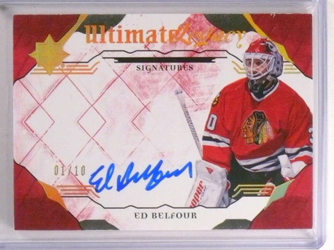 2017-18 Ultimate Collection Legacy Red Ed Belfour autograph auto  #D01/10 *73160