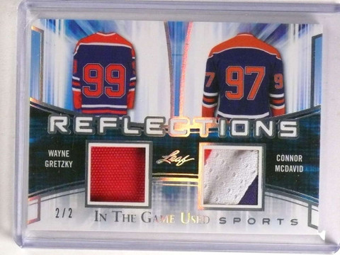 SOLD 20540 2018 Leaf In The Game Used Wayne Gretzky Connor Mcdavid patch #D2/2 *73261