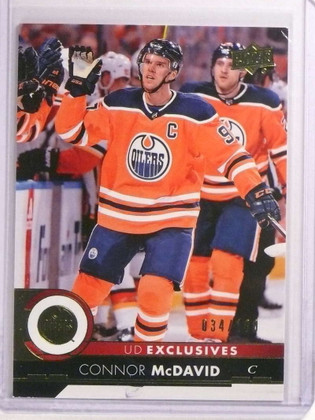 SOLD 20542 2017-18 Upper Deck UD Exclusives Connor Mcdavid #D34/100 #320 Oilers *73149