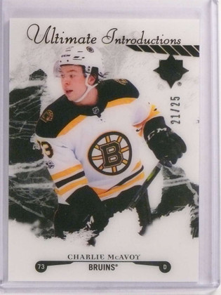 2017-18 Ultimate Collection Introductions Black Onyx Charlie Mcavoy rc /25 *73155
