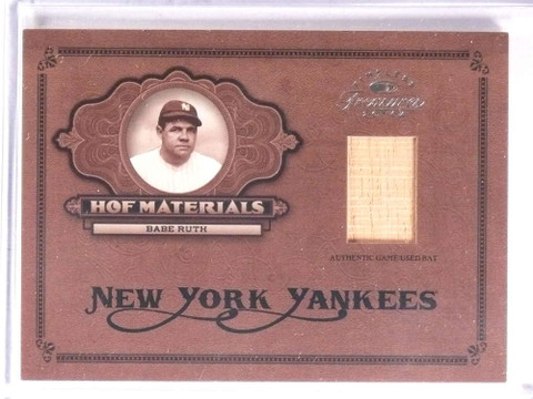 2004 Timeless Treasures HOF Materials Babe Ruth bat #D08/50 #HOF-2 *73204