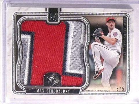 2018 Topps Museum Collection Momentous Max Scherzer jumbo patch #D3/5 *73215
