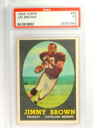 DELETE 20744 1958 Topps Jim Brown rc rookie #62 PSA 5 EX  *73385