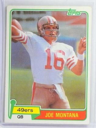 1981 Topps Joe Montana rc rookie #216 EX *73464