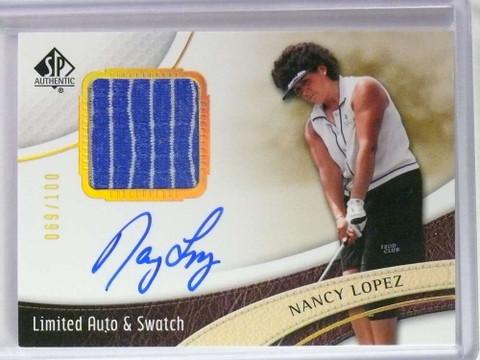 2014 Sp Authentic Limited Nancy Lopez autograph auto shirt #D69/100 #43 *73559