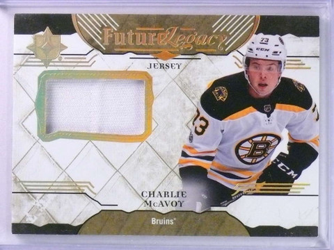 2017-18 Ultimate Collection Charlie McAvoy Future Legacy Jersey #FLCM *74218