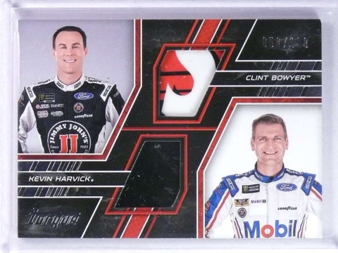 2017 Panini Torque Pairings Clint Bowyer Kevin Harvick Materials #D053/199 *73929
