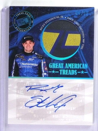 2014 Press Pass American Thunder Ricky Stenhouse Autograph tire #D04/25 *73935